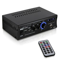 Home Audio Power Amplifier System – 2x120W Dual Channel Theater Power Stereo Receiver Box, ...