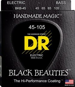 DR Strings Bass Strings, Black Beauties – Extra-Life, Black-Coated