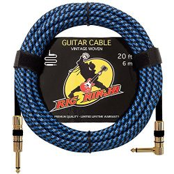 RIG NINJA 1/4 GUITAR CABLE for the Serious Musician, Quality Electric Guitar Cord for a Clean To ...