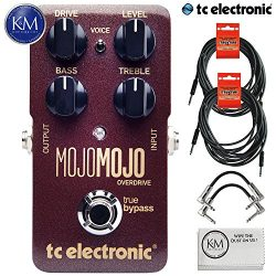 TC Electronic MojoMojo Overdrive – Tube Amp Overdrive Effect Foot Pedal + (2) 20ft Guitar  ...