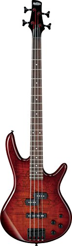 Ibanez GSR200SM 4-String Electric Bass Guitar, GSR4 Maple Neck, Rosewood Fretboard, Charcoal Bro ...