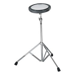 Remo RT-0010-ST 10″ Gray Tunable Practice Pad with Ambassador Coated Drumhead and ST-1000- ...