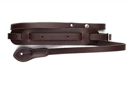 "LeatherGraft 49"" Length Walnut Brown Genuine Leather Classic Mandolin Ukulele Instrument Strap"