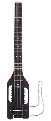 Traveler Guitar ULST BLK Ultra-Light Steel Acoustic/Electric Travel Guitar (Black)