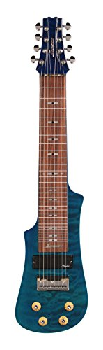 Vorson LT2308 TB 8-String Lap Steel Guitar with Gig Bag, Transparent Blue Quilt