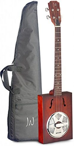 James Neligan CASK-PUNCHEON Cask Series Acoustic Cigar Box Guitar with Gig Bag Included