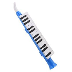 Mxfans Portable Black and White 27 Keys Note Wind Piano Mouth Organ Melodica Blue