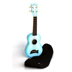 KA MK SD LBLBURST Makala MK-SD/LBL Light Blue Burst Dolphin Bridge Soprano Ukulele