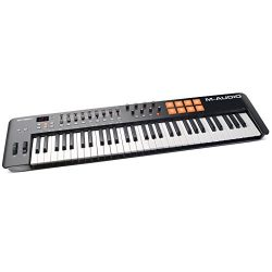 M-Audio Oxygen 61 MKIV | 61-Key USB MIDI Keyboard & Drum Pad Controller (8 Pads/8 Knobs/9 Fa ...