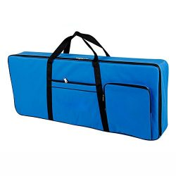 61 Key Keyboard Gig Bag Padded Case, Portable Electric Keyboard Piano 600D Oxford Cloth with 10m ...