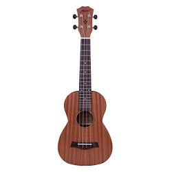 Makanu Professional Concert Ukulele Soudhole decoration Ukulele for Beginner Matt Finish Ukulele ...