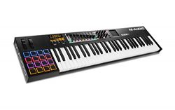 M-Audio Code 61 Black | 61-Key USB MIDI Keyboard Controller with X/Y Touch Pad (16 Drum Pads / 9 ...