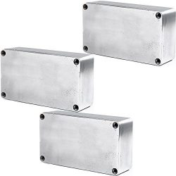 E Support 1590B 115x65x35mm Aluminum Metal Stomp Box Case Enclosure Guitar Effect Pedal Pack of 3