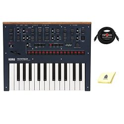 Korg Monologue 25 key Monophonic Analog Synthesizer with 16 step Sequencer with midi cable and Z ...