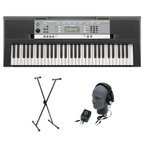 Yamaha YPT-240 61-Key Keyboard Pack with Headphones, Power Supply, and Stand