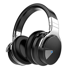 COWIN E7 Active Noise Cancelling Bluetooth Headphones with Microphone Hi-Fi Deep Bass Wireless H ...