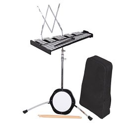 PanelTech Percussion Bell Kit Glockenspiel Bell Set 30 Note Mendini Case Educational Practice Pa ...