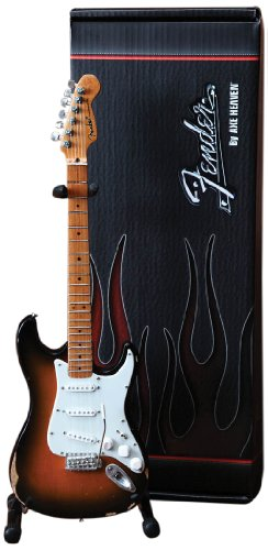 Axe Heaven FS-001 Fender Stratocaster Classic Sunburst Finish Miniature Guitar