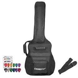 ChromaCast CC-AMJPB-BAG-KIT-1 Acoustic Mini Jumbo Padded Gig Bag with Guitar Strap and Pick Sampler