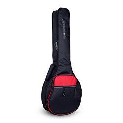 Crossrock CRSG106BJBR Padded Gig Bag for Open Back & Resonator Banjos, Backpack Straps, Blac ...