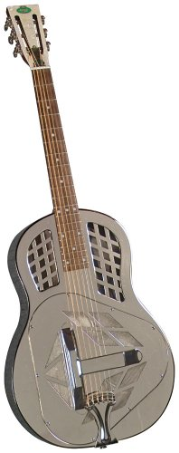 Regal RC-57 Metal Body Tricone Resophonic Guitar – Nickel-Plated Brass