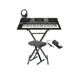 Yamaha PSRA3000 61Key Workstation Arranger Keyboard+Stand+Bench+Pedal+Headphones