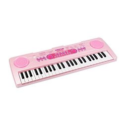 aPerfectLife Chargable Piano Keyboard for Kids, 49 Keys Multi-function Electronic Kids Piano Key ...