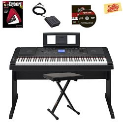 Yamaha DGX-660 Digital Piano – Black Bundle with Adjustable Bench, Instructional Book, Aus ...