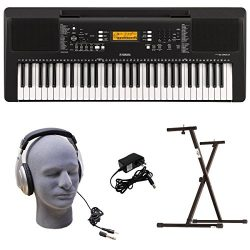 Yamaha PSR-E363 PKY 61-Key Keyboard Pack with Headphones, Power Supply, Secure Bolt-On Stand