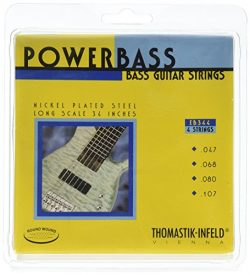 Thomastik-Infeld EB344 Bass Guitar Strings: Power Bass 4 String Magnecore Set G, D, A, E Set