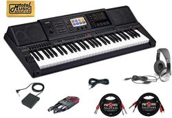 Casio MZ-X300 CABLES Arranger Keyboard 61 Key TMS Cable Bundle