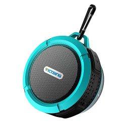 VicTsing Shower Speaker, Wireless Waterproof Speaker with 5W Driver, Suction Cup, Built-in Mic,  ...