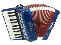 Fever Piano Accordion 22 Keys 8 Bass, Blue