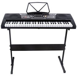 LAGRIMA Electric Piano Keyboard 61 key Keyboard Music Piano Portable Electronic Digital paino wi ...