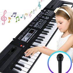 Digital Music Piano Keyboard 61 Key – Portable Electronic Musical Instrument Multi-functio ...