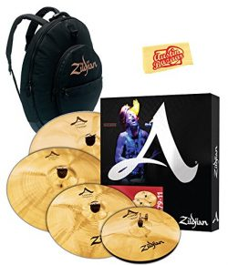Zildjian A20579-11 A Custom Cymbal Set Bundle with Gig Bag and Austin Bazaar Polishing Cloth
