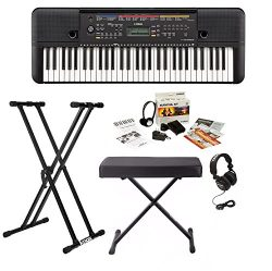 Yamaha PSRE263 Keyboard with Survivalkit, Headphones, Knox Stand and Bench