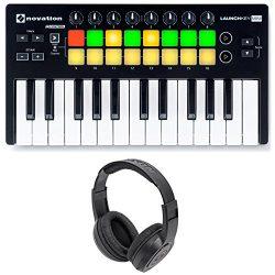 Novation LAUNCHKEY MINI MK2 25 Key USB Keyboard Controller+Headphones