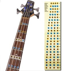 L'MS Guitar Fretboard Note Decals Fingerboard Frets Map Sticker for Beginner Learner Pract ...