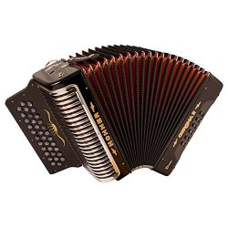 Hohner Corona Xtreme II Accordion, 34 Button, EAD, Black