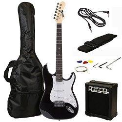 RockJam RJEG02 Electric guitar Starter Kit – Includes Amp, Lessons, Strap, Gig Bag, Picks, ...