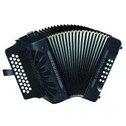 Hohner Compadre E/A/D 3-Row Diatonic Accordion – Black