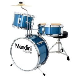 Mendini by Cecilio 13 Inch 3-Piece Kids/Junior Drum Set with Adjustable Throne, Cymbal, Pedal &a ...