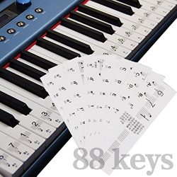 A-SZCXTOP 32/49/54/61/88 Key piano/Electronic organ keyboard sticker transparent anti abrasion F ...