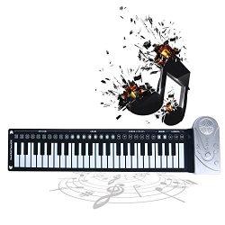 Homend 49 Key Roll Up Keyboard Piano Portable Soft Elastic Electronic Music Key Piano for Beginn ...