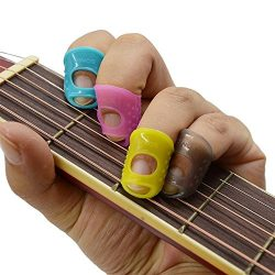 Imelod Large Medium Small size Guitar Fingertip Protectors Silicone Finger Guards for Ukulele, G ...
