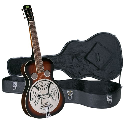 Regal RD-30TS Studio Series Squareneck Resophonic Guitar with Hardshell Case – Sunburst Ma ...