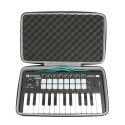 Hard Travel Case for Novation LAUNCHKEY MINI MK2 25 Key USB Keyboard Controller by co2CREA