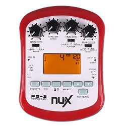 NUX PG-2 Portable Electric Guitar Multi-Effects Pedal Processor with Tuner Metronome Built-in No ...