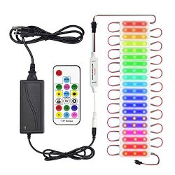 SuperLightingLED Dream Color LED Module Kit Waterproof IP67 DC12V 5050 LED Pixel String 20 pcs w ...